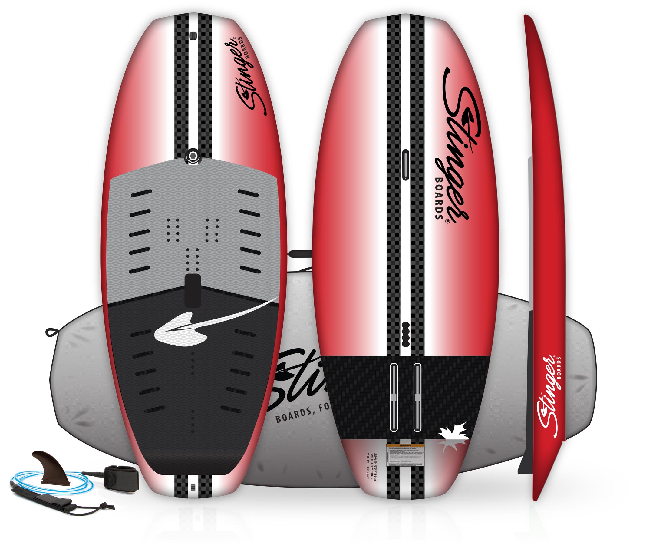 "Stinger Foils 6'6"" SUP | Wind Wing Board Package"